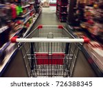 supermarket shopping cart view... | Shutterstock . vector #726388345