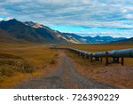 trans alaskan oil pipeline in... | Shutterstock . vector #726390229
