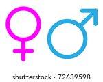 gender signs | Shutterstock . vector #72639598
