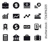 16 vector icon set   portfolio  ... | Shutterstock .eps vector #726396205
