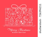 christmas and new year banner... | Shutterstock .eps vector #726396211