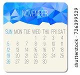 november 2017 vector calendar.... | Shutterstock .eps vector #726399529