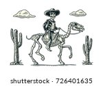 the rider in the mexican man... | Shutterstock .eps vector #726401635