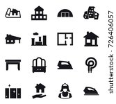 16 vector icon set   project ...   Shutterstock .eps vector #726406057