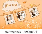 wedding picture bride and... | Shutterstock .eps vector #72640924
