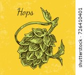 cone hops. vintage style.... | Shutterstock .eps vector #726410401