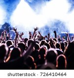 cheering crowd at rock concert...   Shutterstock . vector #726410464