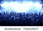 cheering crowd at rock concert... | Shutterstock . vector #726410527