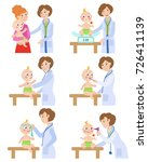 female pediatrician  doctor... | Shutterstock .eps vector #726411139