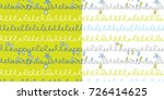 set of two seamless repeat... | Shutterstock .eps vector #726414625