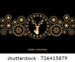 christmas golden  decoration.... | Shutterstock .eps vector #726415879