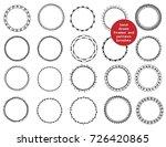 set of vector decorative... | Shutterstock .eps vector #726420865