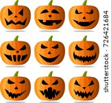 orange isolated halloween... | Shutterstock .eps vector #726421684