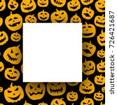black round halloween... | Shutterstock .eps vector #726421687