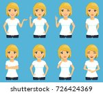 a set of different expressions... | Shutterstock .eps vector #726424369