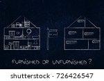 furnished or unfurnished... | Shutterstock . vector #726426547
