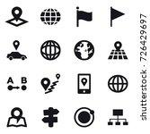 16 vector icon set   pointer ... | Shutterstock .eps vector #726429697