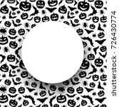 white round halloween card with ... | Shutterstock .eps vector #726430774