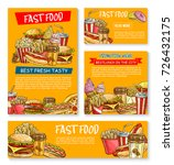 fast food menu posters and... | Shutterstock .eps vector #726432175
