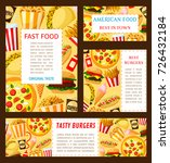 fast food restaurant posters... | Shutterstock .eps vector #726432184