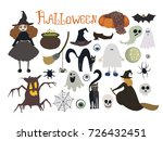 halloween  vector illustration  | Shutterstock .eps vector #726432451