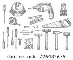 repair  carpentry and woodwork... | Shutterstock .eps vector #726432679