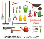 gardening or gardener planting... | Shutterstock .eps vector #726432694