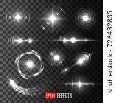 light sparkles and bright star... | Shutterstock .eps vector #726432835