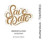 save the date hand written... | Shutterstock .eps vector #726435811