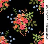 charming pattern in small... | Shutterstock .eps vector #726436735