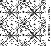 cobweb seamless pattern. spider ... | Shutterstock .eps vector #726438139