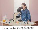 stem education. schoolgirl...   Shutterstock . vector #726438835