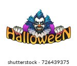 evil clown halloween... | Shutterstock .eps vector #726439375