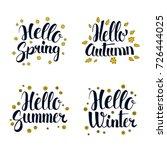 hello spring  summer  autumn... | Shutterstock .eps vector #726444025