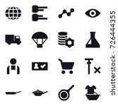 16 vector icon set   globe ... | Shutterstock .eps vector #726444355