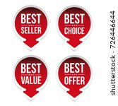 best seller  best value  best... | Shutterstock .eps vector #726446644