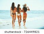 beautiful young women enjoying... | Shutterstock . vector #726449821