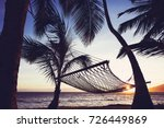 tropical hawaiian hammock at... | Shutterstock . vector #726449869