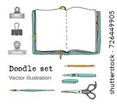 vector set of sketch notebooks  ... | Shutterstock .eps vector #726449905