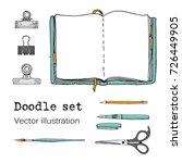 vector set of sketch notebooks  ... | Shutterstock .eps vector #726449905