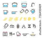set of sign for cooking... | Shutterstock .eps vector #726450409
