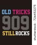 varsity numbers colors rock... | Shutterstock .eps vector #726452275