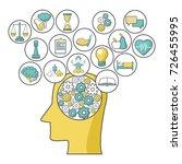 mental health design | Shutterstock .eps vector #726455995