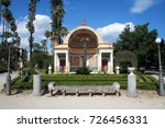 the southern exedra of the... | Shutterstock . vector #726456331