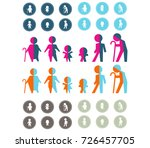 creative family icons vector ... | Shutterstock .eps vector #726457705