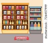 supermarket sale stand   Shutterstock .eps vector #726457999
