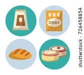 carbohydrates food icons | Shutterstock .eps vector #726458854