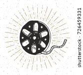 cinema tape and film reel... | Shutterstock .eps vector #726459331
