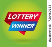 lottery winner arrow colored... | Shutterstock .eps vector #726460135