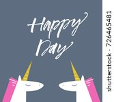 vector cute unicorns and... | Shutterstock .eps vector #726465481